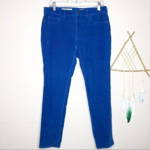 Pilcro & the Letterpress | Cobalt Blue Skinny Cord